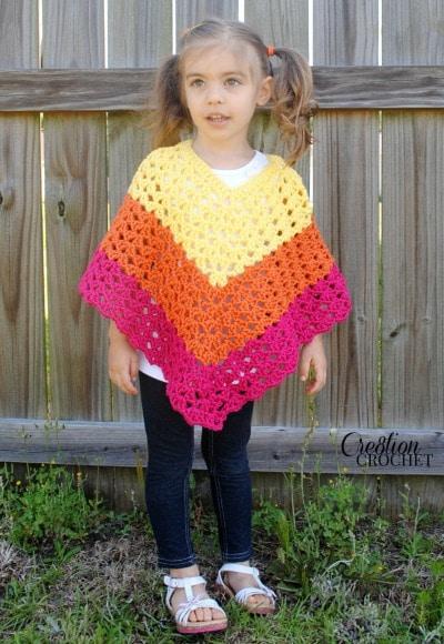 Pattern Childrens Shell Poncho - Cre8tion Crochet