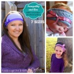 Tranquility and Ava FREE earwarmer headband pattern in 7 sizes #cre8tioncrochet #kaleidoscopeart&gifts