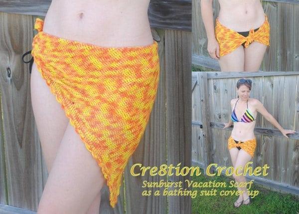 10 sunburst vacation scarf bathing suit cover