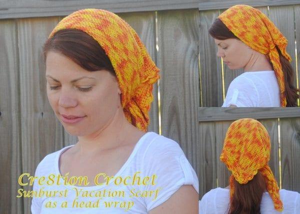 11 sunburst vacation scarf head wrap