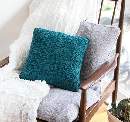 Everyday lace pillow kit on Craftsy