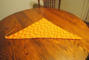 5 sunburst vacation scarf in half