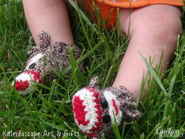 Sock Monkey Baby Booties - Cre8tion Crochet