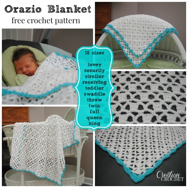 Orazio Blanket FREE crochet pattern in TEN sizes #cre8tioncrochet