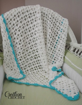 Orazio Blanket free crochet pattern in 10 sizes #cre8tioncrochet