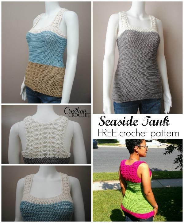 Seaside Tank FREE crochet pattern #cre8tioncrochet