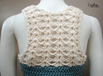 lacy back Seaside Tank FREE crochet pattern