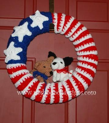 posh pooch wreath