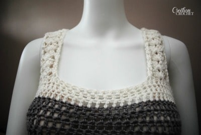 shoulder straps Seaside Tank FREE crochet pattern