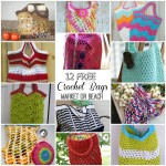 12 FREE Crochet Bag Patterns- Market and Beach- compiled by #cre8tioncrochet