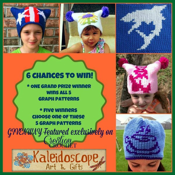 Kaleidoscope Art & Gifts FREE Graph Giveaway featured on Cre8tion Crochet