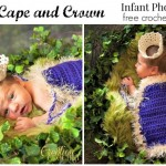Kings Cape and Crown FREE crochet patterns for infant photo props #cre8tioncrochet