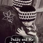 FREE crochet pattern ~ Daddy and Me Zig Zag Beanie