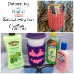 Swimsuit Drink Sleeve FREE crochet pattern.  Printable graphs for both one piece and two piece