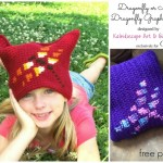 Dragonfly free crochet graph pattern designed by Kaleidoscope Art & Gifts exclusively for Cre8tion Crochet