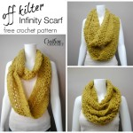 Off Kilter Infinity Scarf FREE pattern on #cre8tioncrochet