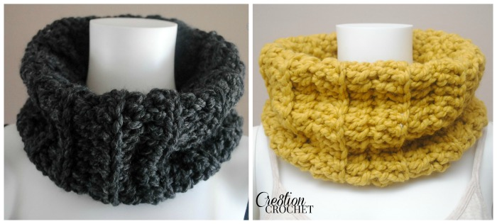 Chunky Ribbed Cowl - Cre8tion Crochet