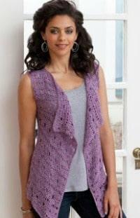 Fifteen free crochet vest patterns cre8tion crochet drapey crochet vest dt1010fo