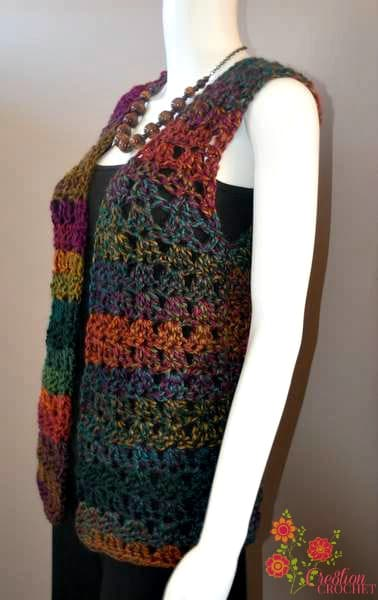 Free Crochet Pattern Colorful Baby Vest : Pin Free Vest Crochet Patterns From Our Free Crochet ...