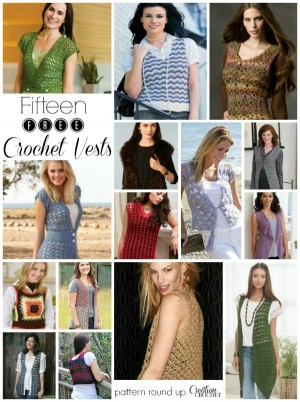 Fifteen FREE Crochet Vest Patterns Round Up by Cre8tion Crochet