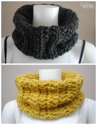 Free Pattern ~ Chunky Ribbed Cowl ~ Cre8tion Crochet