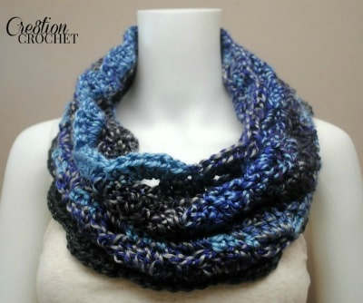 Sunset to Moonshadows FREE Cowl pattern #cre8tioncrochet