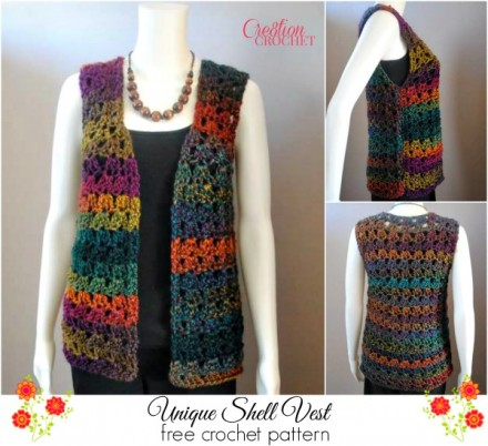 Unique Shell Vest FREE crochet pattern #cr8tioncrochet