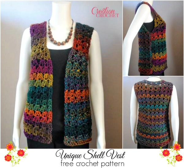 Pin Free Vest Crochet Patterns From Our Free Crochet Patterns on ...