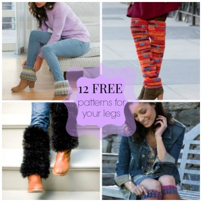 12 Free Patterns for your Legs- Quick and Easy Crochet Accessories