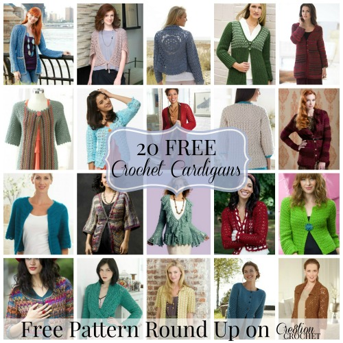20 FREE Crochet Cardigan Patterns on Cre8tion Crochet