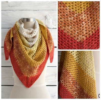 Augusta Shawl FREE pattern on Craftsy Featured on Crochet Find of the Day with Cre8tion Crochet