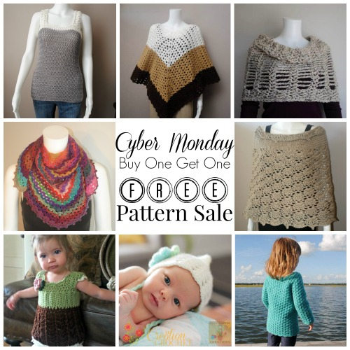 Buy One Get One FREE Cyber Monday Crochet Pattern Sale #cre8tioncrochet