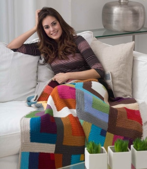 Color Patch Afghan