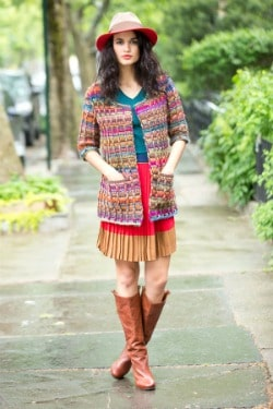 Colorfully Modern Cardigan