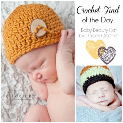 Crochet Find of the Day Free Newborn Crochet Hat Pattern Baby Beauty Hats