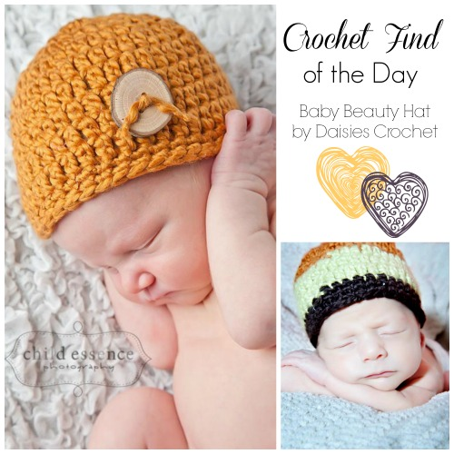 Crochet Find of the Day Free Newborn Crochet Hat Pattern Baby Beauty Hats
