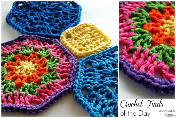 Crochet Finds of the Day FREE Pattern on Craftsy November 09 2014 Octagon Crochet Motif