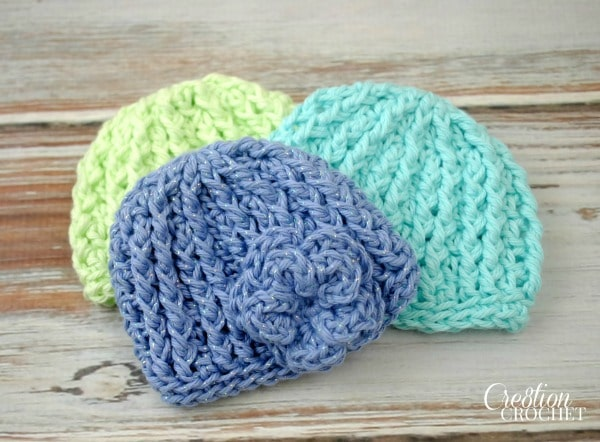 Crochet Patterns For Premature Babies : Crochet Preemie Hat with Newborn Sizing - Cre8tion Crochet