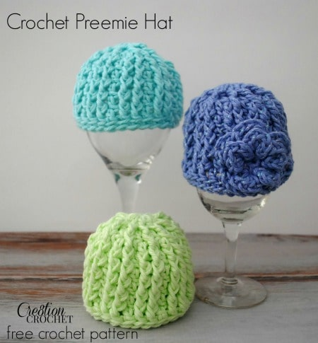 Crochet Hat Pattern For Premature Baby : Crochet Preemie Hat with Newborn Sizing - Cre8tion Crochet