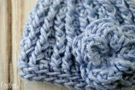 Crochet Preemie Hat with Flower Free Crochet Pattern #cre8tioncrochet