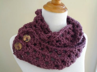 Fiona Button Scarf by Fiber Flux