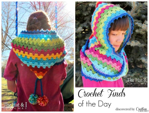 Harlequin Hood Crochet Find of the Day by Cre8tion Crochet