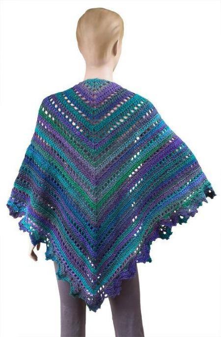 Great crochet shawl pattern on Crochet Finds by Cre8tion Crochet, The Penelope Shawl
