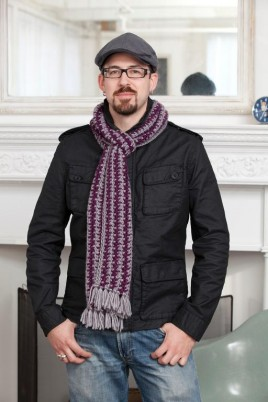 Purple Stitch Project Subway Scarf
