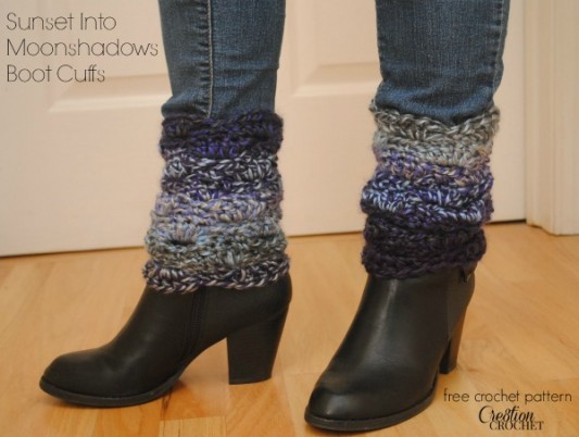 Sunset Into Moonshadows FREE Crochet Boot Cuff Pattern