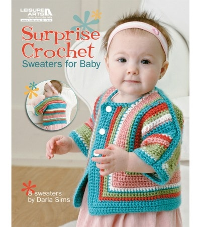 Surprise Baby Crochet book at Joann- 8 adorable baby sweaters on sale for only $5.97
