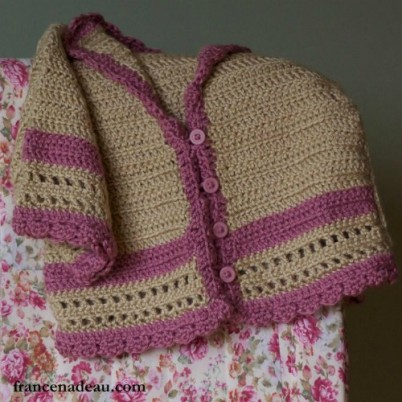 Sweet Girl Sweater free girls crochet sweater pattern