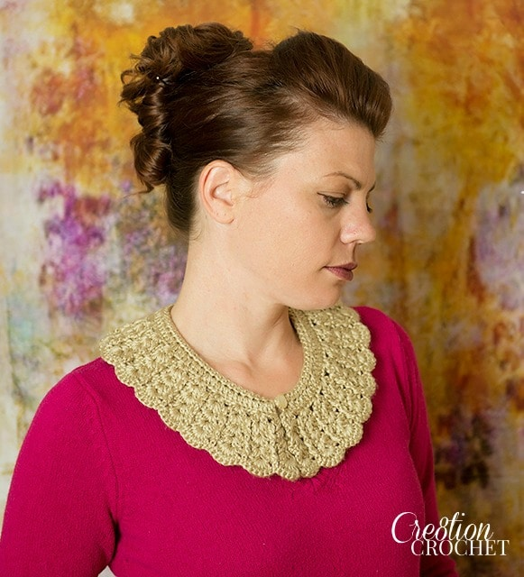 vintage crochet collar FREE pattern on Cre8tion Crochet