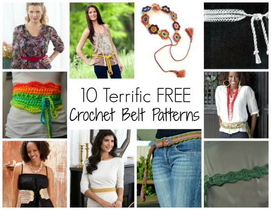 10 Terrific Free Crochet Belt Patterns Quick and Easy Crochet Accessories