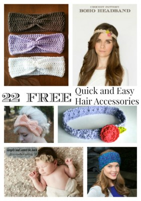 22 FREE Quick and Easy Crochet Accessories for your Hair